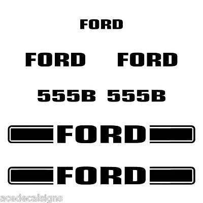 3M Vinyl! Ford 655C TURBO Decal Kit Backhoe Equipment Decals 655 C