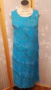 Nwt Meng Designs Rayon Batik Dress M Medium Blue Turquoise Cool Mixed Items & Lots