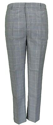 Mens 60s Vintage Retro Mod Prince Of Wales Slim Skinny Fitting Trousers
