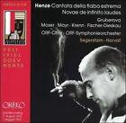 Hans Werner Henze: Cantata della fiaba estrema; Novae de infinito laudes (CD, Jul-2003, Orfeo)