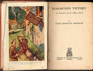 Vintage-ELSIE-J-OXENHAM-ROSAMUND-039-S-VICTORY-HC-1st-Ed-1934-Abbey-Girls-Series