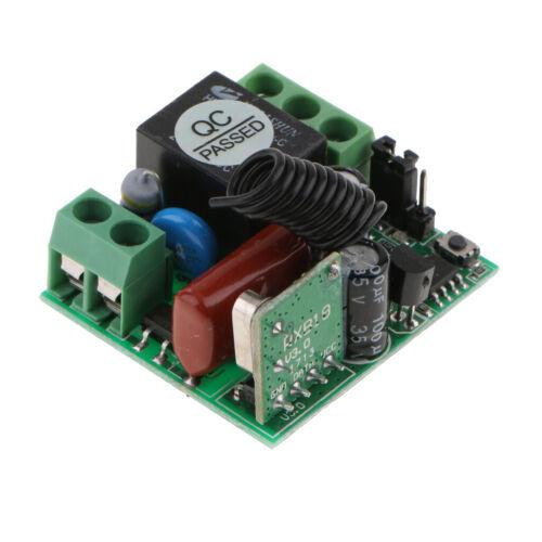 433mhz Fernbedienung Lichtschalter EIN AUS 1 Kanal Relais Schalter
