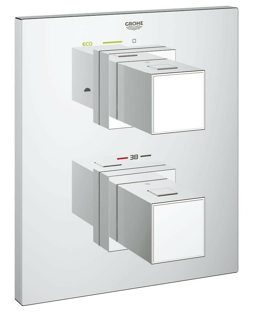 Grohe Thermostat mit 2-Wege-Umstellung Grohtherm Cube Set