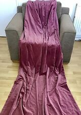 GORGEOUS VINTAGE VELVET CURTAINS Raspberry Pink L2.2m x W1.15 Per curtain