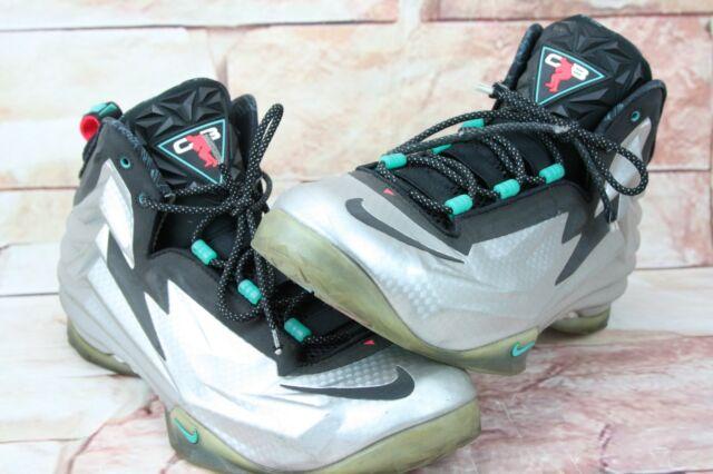 on sale 67220 f636f Nike Chuck Foamposite CB4 Charles Barkley 684758-001 Men 13 Silver Metallic