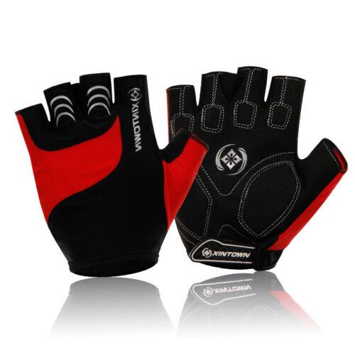 Men Women Bike Half Finger Cycling Gloves Short Bicycle Biking Riding Gloves
