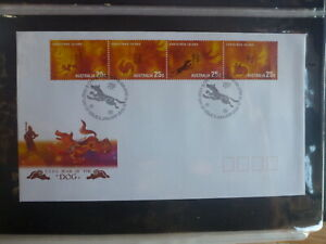 AUSTRALIA-2006-CHRISTMAS-Is-YEAR-OF-THE-DOG-STRIP-4-STAMPS-FDC-FIRST-DAY-COVER