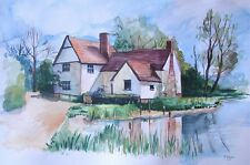 Custom house portrait from photo watercolour A3 gift landscape house