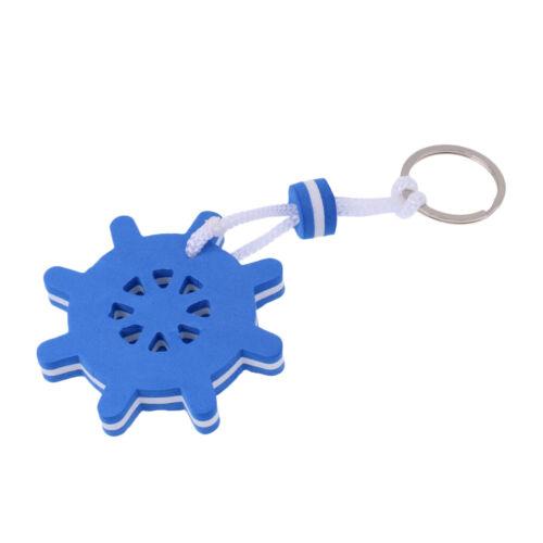 2x Floating Key Chain Boat Key Float Marine Key Ring Holder Anchor /& Rudder