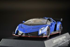 Details about [KYOSHO 1/64] Lamborghini Veneno Roadster Blue/Red Line  Minicar Lottery