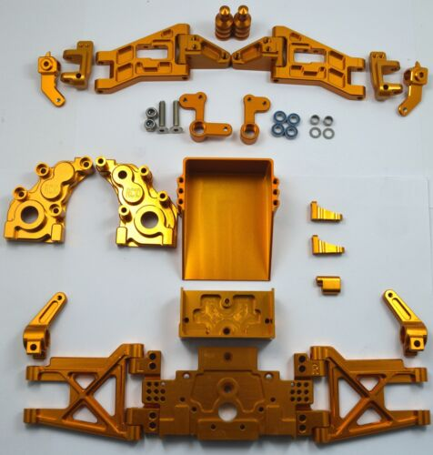 Dhawk Racing Aluminum Conversion Kit Gold For Team Associated RC10 World/'s Car