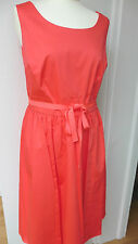 Boden coral pink cotton Marilyn dress UK 16L