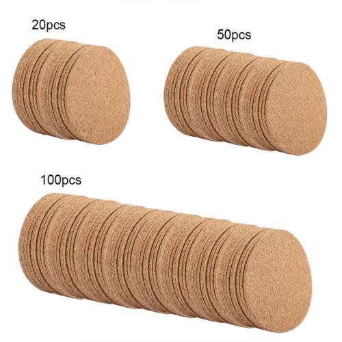 20//50//100x Drink Coaster Tea Coffee Cup Mat Pad Cork Wood Table Decor Tableware