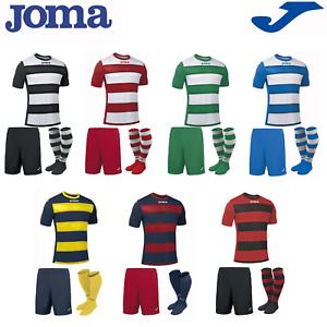 Joma kit completo equipo de fútbol Deportes Calcetines para hombre camisas de capacitación tira Europa Retro