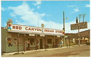 Native-American-RED-CANYON-INDIAN-STORE-Hwy-12-Panguitch-Utah-1960-039-s-Photo-PC