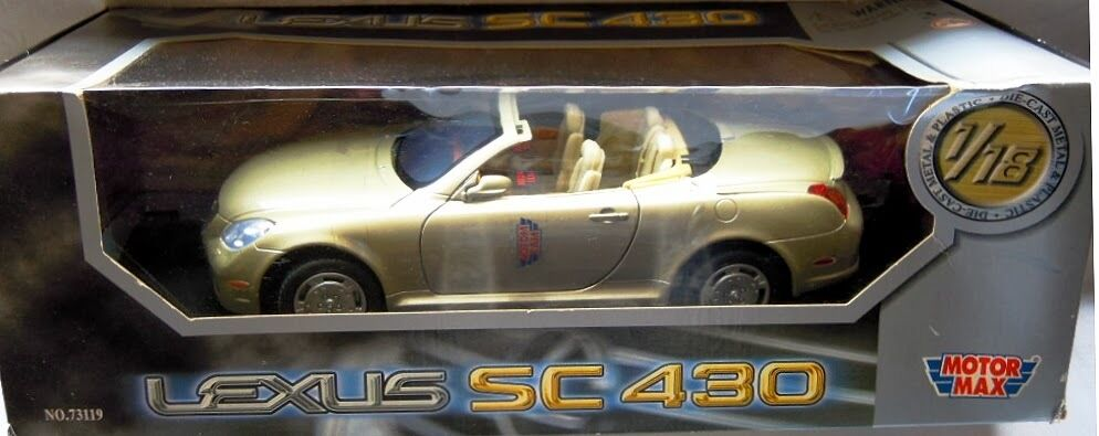 Motormax 73119  LEXUS SC 430, high quality metal model in 1 18, NEW & OVP