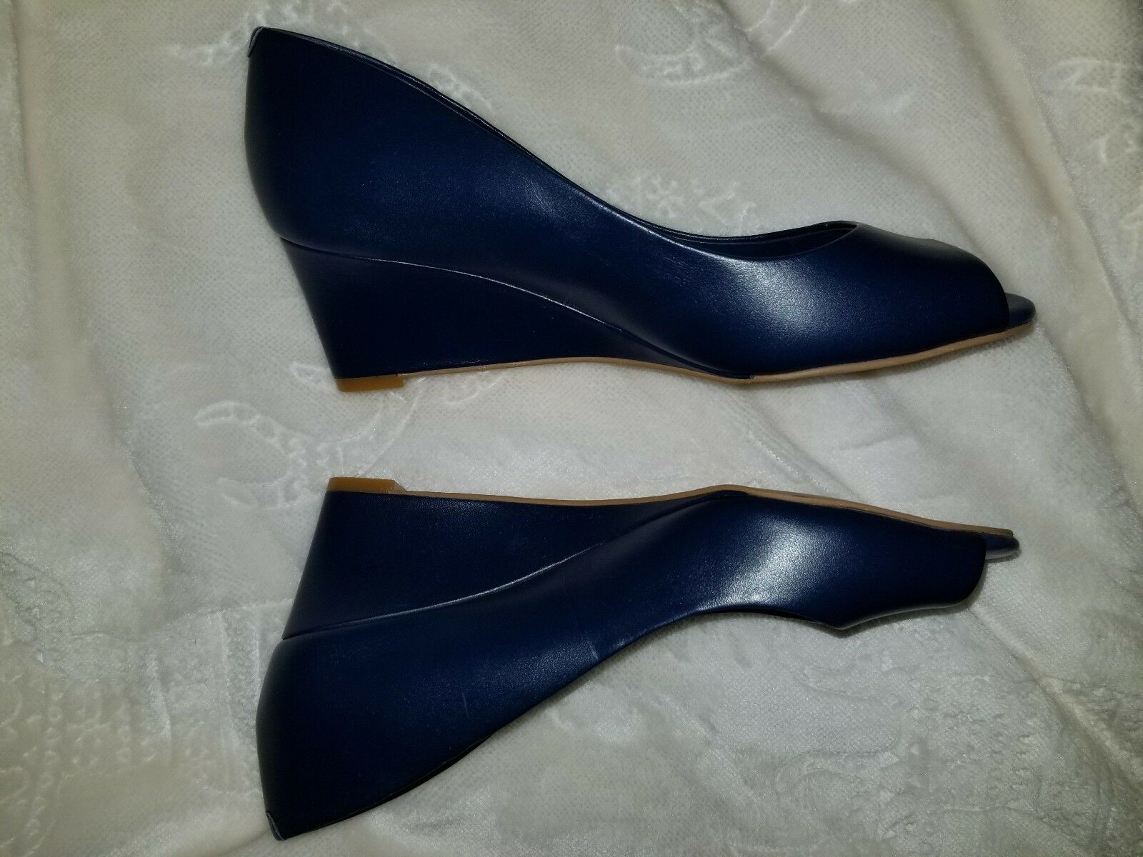 Chaussures Of Prey-Femme bleu Marine TALONS COMPENSES-Taille 5-NEUF - (offre acceptée)