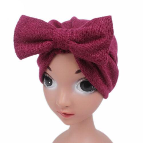 Children Kids Baby Girl Boho Hat Beanie Wool Blend Scarf Turban Head Wrap Cap US