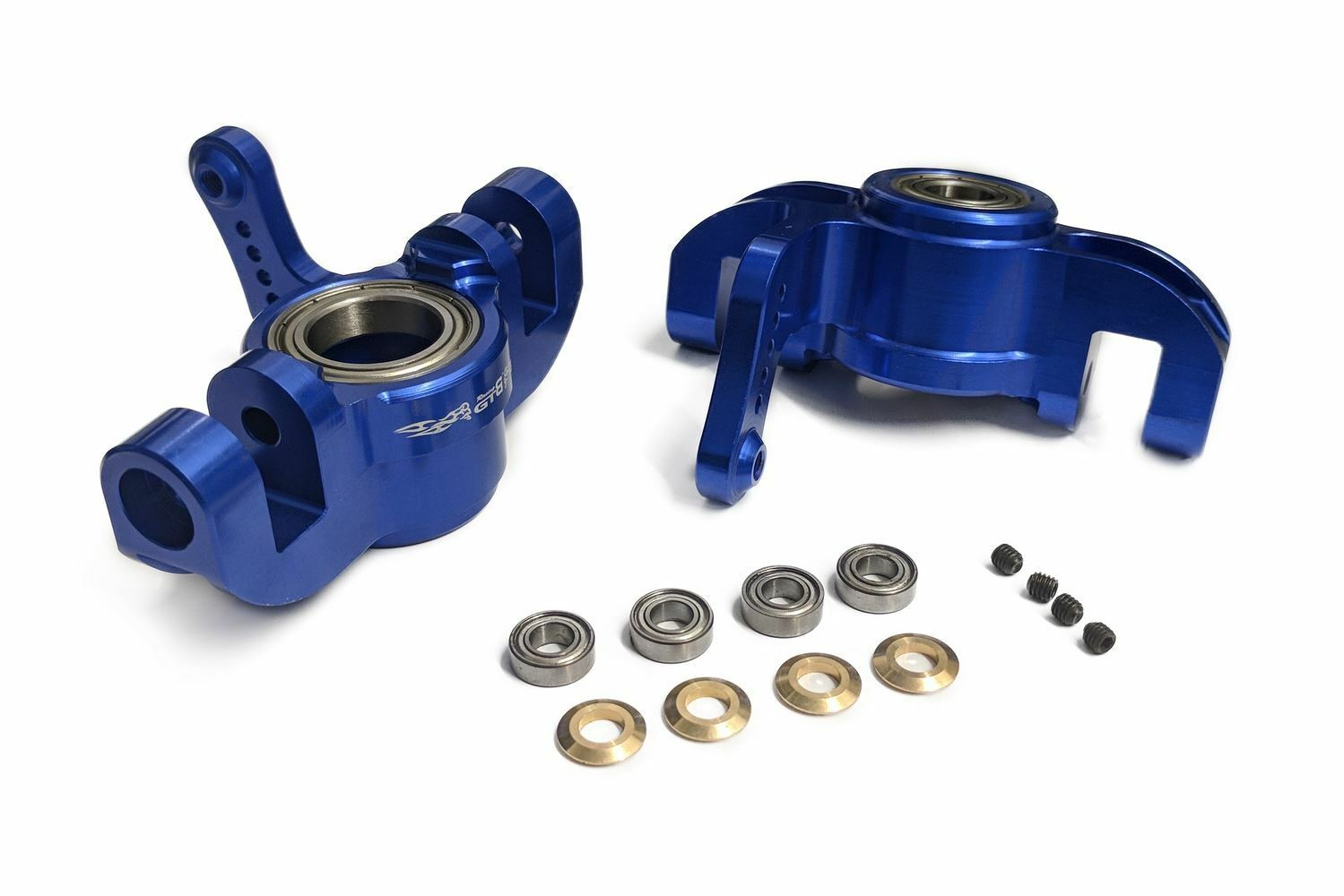 GTB Racing Front Hub Carriers for KMX2, Losi 5ive-T, 30 DNT