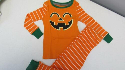 Snooze Button 2pc Orange Striped Pumpkin Set Sleepwear Pajamas 3T NEW TL69