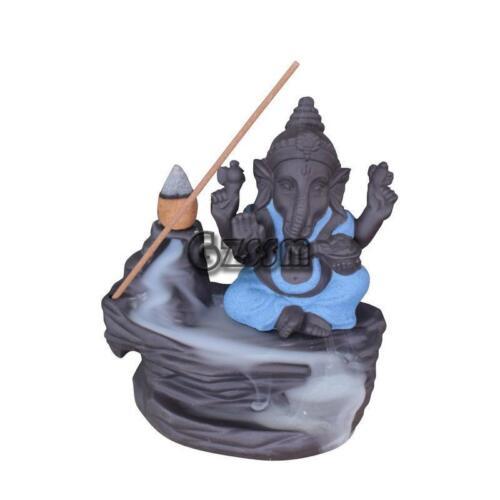 100x108mm Indian Elephant Backflow Incense Burner Cone Sticks Holder Home Decor