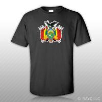 Bolivian Coat Of Arms T-shirt Tee Shirt Free Sticker Bolivia Flag Bol Bo