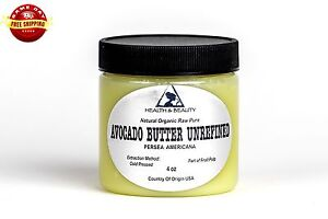 AVOCADO-BUTTER-UNREFINED-ORGANIC-EXTRA-VIRGIN-COLD-PRESSED-RAW-PURE-4-OZ