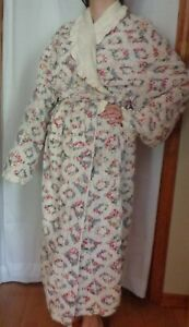 VINTAGE-STAN-HERMAN-HERBCRAFT-FLORAL-CHENILLE-WOMEN-039-S-ROBE-FULL-LENGTH-LARGE-L
