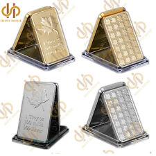 2Pcs/lot Canadian Maple Leaf 1 Troy OZ 100 Mills 999 Gold/silver Bullion Bar