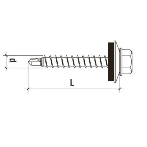 Trapezblech Schrauben mit Dichtscheibe Bohrschrauben für Stahlkonstruktionen