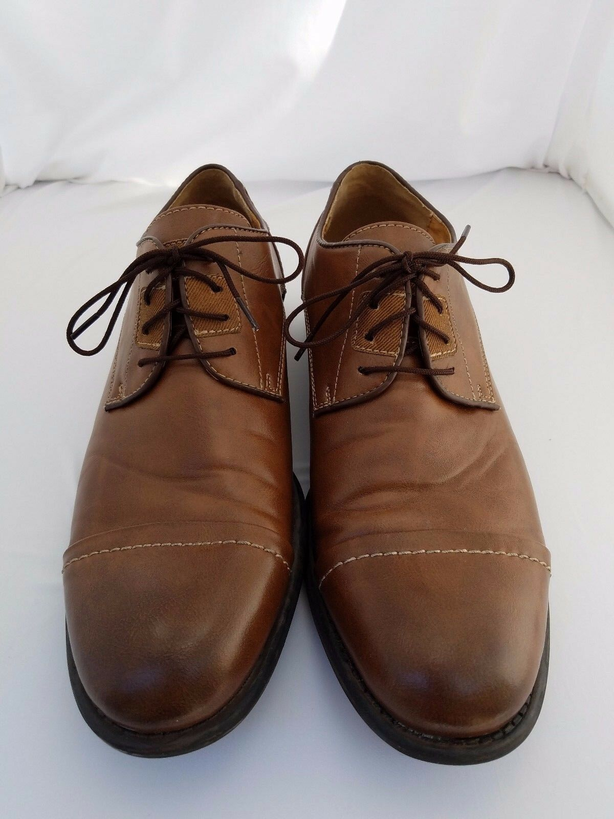 Guess Men's Brown Cap Toe Oxford Dress shoes Size 8M 1  Heel Make me an Offer