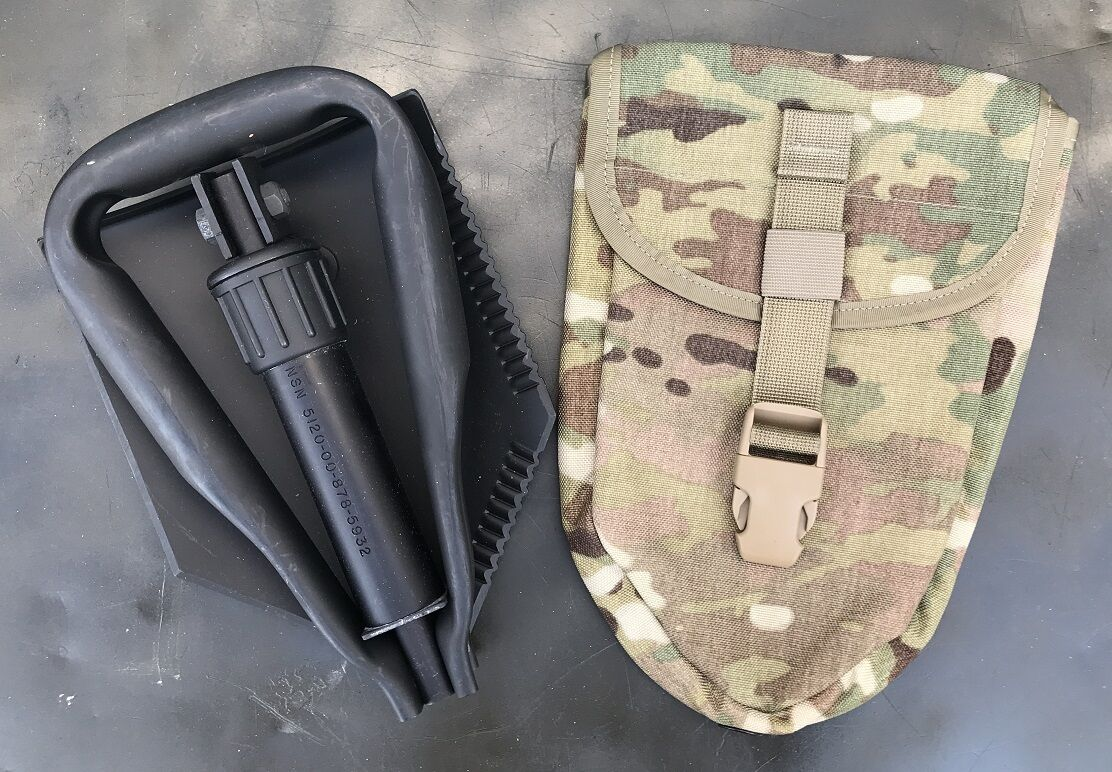 US Army Entrenching Entrenching Army Tool E-Tool  Genuine Military Issue Shovel Spaten Multicam 597376