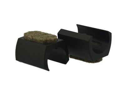Schalengleiter für Rohre Ø 16mm schwarz Fussstopfen Freischwinger Stuhl Gleiter
