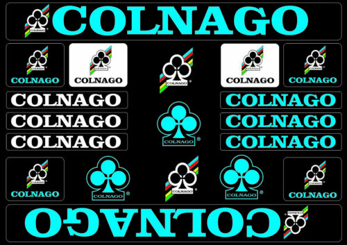Colnago Bicycle Bike Frame Decals Stickers Adhesive Graphic Set Vinyl Blue