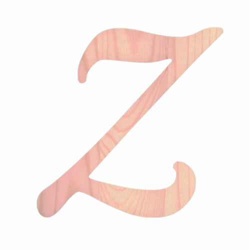Unfinished Wooden Playball Italic Letter Z 6.25 Inches