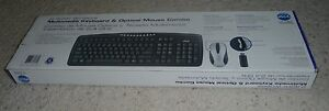Rare Micro Innovations KB1100W Black Wireless Keyboard and Black/Silver Mouse