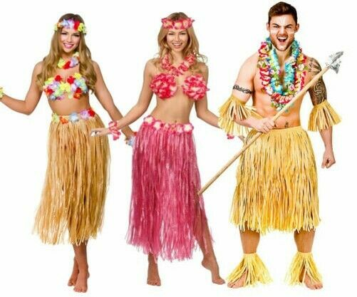 Hawaii Party Kit 5pc Costume Outfit Hawaiian Fancy Dress Beach Party Mens Ladies For Sale Online