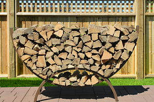 The Woodhaven 5ft Crescent Rack Brown
