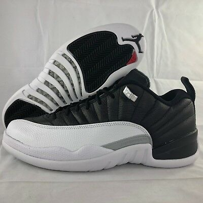 quality design 73648 eed0b Nike Air Jordan 12 XII Retro Low Playoffs Black Red White 308317-004 Men's  17 | eBay