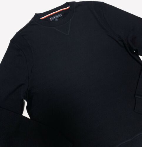 Tommy Hilfiger Men/'s Track Top Sweater Long Sleeve In Black Size L BNWT