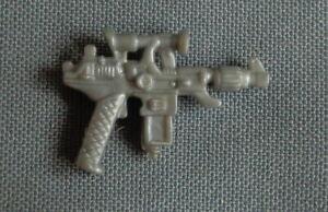 1987 vintage Hasbro G.I. JOE silver pistol gun COBRA COMMANDER BATTLE ARMOR part