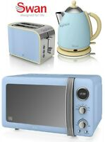 Swan Microwave Kettle And Toaster Set Blue Microwave Jug Kettle 2-slice Toaster