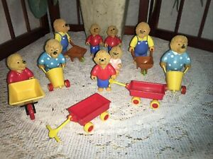 Vintage-1987-Berenstain-Bear-Figures-Complete-Set-McDonalds-Happy-Meal-toys-lot