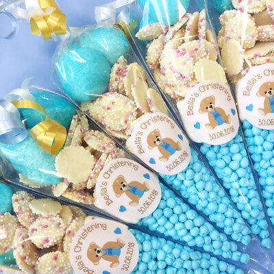 Batman Pre Filled Sweet Cones Personalised Blue sweet 1 to 55 all quantities