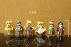 Sailor-moon-Anime-Manga-japanische-Kimono-Figuren-Figure-Figur-6er-Set-H-8cm