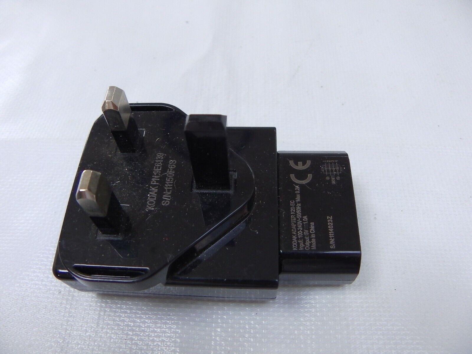 Kodak AC Mains Power Adapter K20EC for Kodak Easyshare Touch/M320 Camera 9E6139