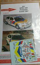 Decals 1/18 réf 822 Opel GSI FREQUELIN TOUR DE CORSE 1987