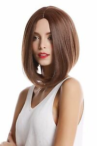 ladies 39 wig shoulder length smooth long bob middle part braun fawn brown ebay. Black Bedroom Furniture Sets. Home Design Ideas