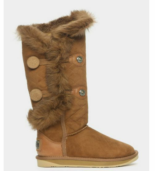 Australia Luxe Collective Nordic Chestnut Angel X X Angel Tall Sheepskin Quilt Boot 279546