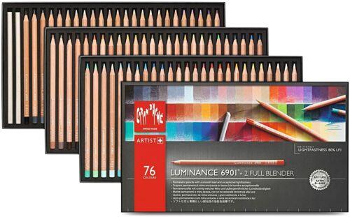 76 Colours /& 2 Blenders Caran Dache Luminance 6901 Professional Colour Pencils